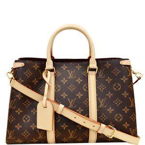 Louis Vuitton Soufflot Mm Monogram Canvas Handbag